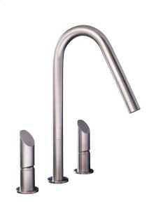 From the T45 Collection This 3 Hole Mixer Operates Hot and Cold Water Indipendently