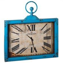 Distressed Blue Wall Clock.