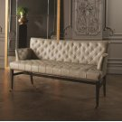 Chester Loveseat-Light Grey Marbled Leather Product Image