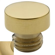 Satin Brass Button Finial