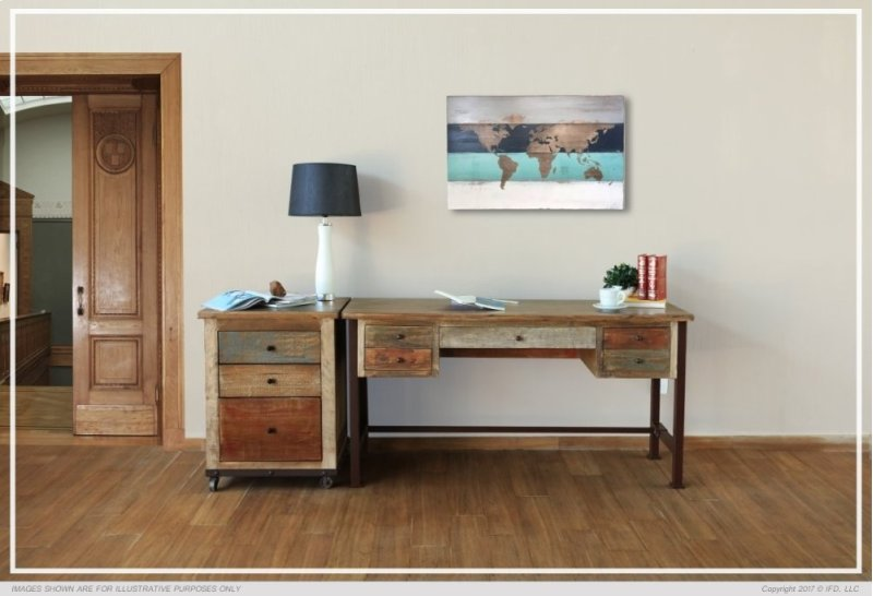 Writing Desk Reclaimed Wood Finish