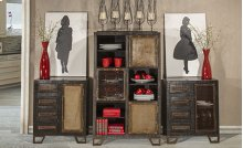 Bridgewater Accent Cabinet - Rubbed Black Wood