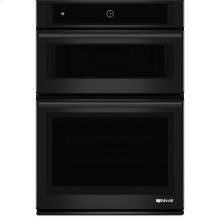"30"" Microwave/Wall Oven with MultiMode® Convection System, Black Floating Glass w/Handle"
