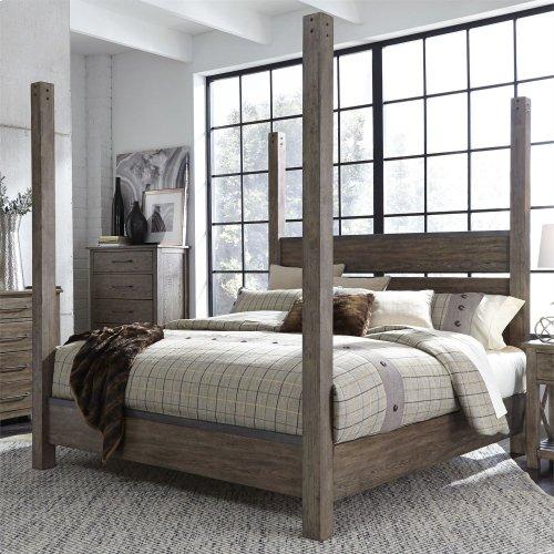Queen Poster Bed, Dresser & Mirror, NS