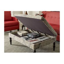 Large Cocktail Ottoman-turned Leg-storage
