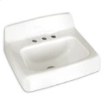 "American StandardWhite Regalyn 19"" x 17"" Enameled Cast Iron Wall Hung Sink"