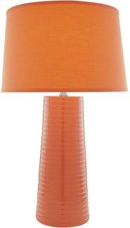 Ceramic Table Lamp, Orange W/fabric Shade,type A 150w Product Image