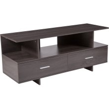 Fields Driftwood Wood Grain Finish TV Stand and Media Console