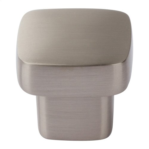 Chunky Square Knob Small 1 Inch - Brushed Nickel
