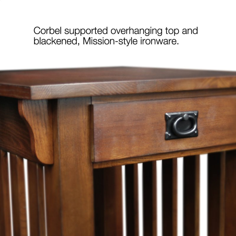 Mission Drawer End Table 8207