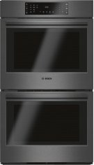 """800 Series 30"""" Double Wall Oven, HBL8642UC, Black Stainless Steel Product Image"""