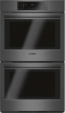 """800 Series 30"""" Double Wall Oven, HBL8642UC, Black Stainless Steel"""