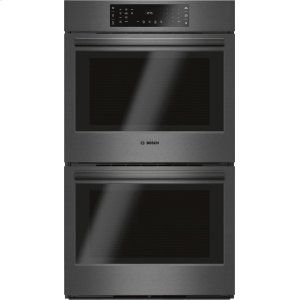 BOSCH800 Series Double Wall Oven 30'' Black stainless steel