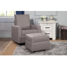 Grey Tweed Alden Swivel Glider