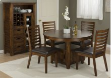 Coolidge Corner Dining Height Storage Table With Four Chairs