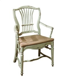 Wheat Arm Chair with Rush Seat