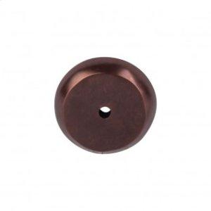 Aspen Round Backplate 1 1/4 Inch - Mahogany Bronze