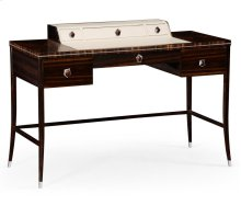 Macassar Ebony Dressing Table with White Brass Detail