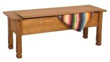 Sedona Side Bench W/storage/wooden Seat