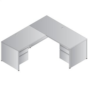"""Metal Desk Left L-shape Workstation 66""""x78"""""""
