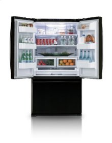 25.8 cu.ft. french door refrigerator - black