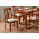 """DINING CHAIR - 2PCS / AMARETTO """"MODERN"""" STYLE Product Image"""