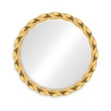 """35"""" Gilded Twisted Mirror"""