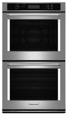 """27"""" Double Wall Oven with Even-Heat True Convection (Upper Oven) - Stainless Steel"""