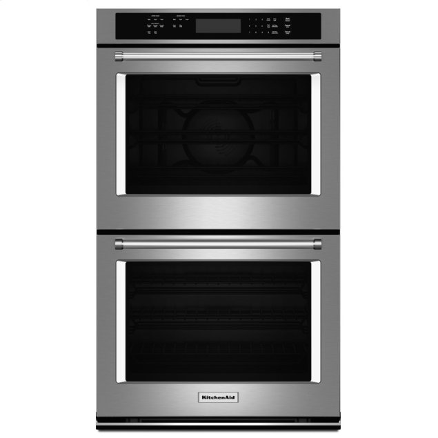 "KitchenAid 27"" Double Wall Oven with Even-Heat™ True Convection (Upper Oven) - Stainless Steel"