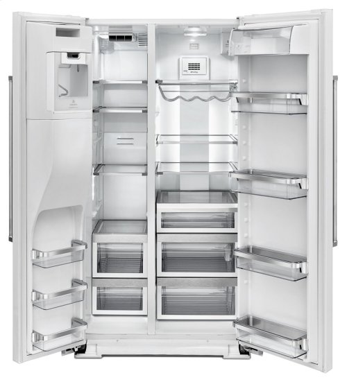 24.8 Cu. Ft. Standard Depth Side-by-Side Refrigerator with Exterior Ice and Water - Stainless Steel