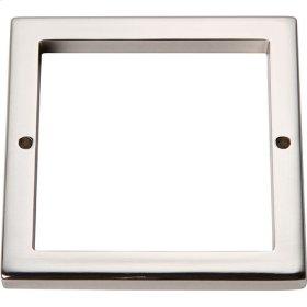 Tableau Square Base 3 Inch - Polished Nickel