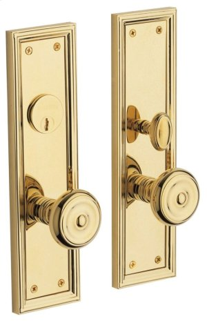 Lifetime Polished Brass Nashville Entrance Trim Product Image