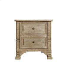 2 Drawer Nightstand-weathered Pine Finish