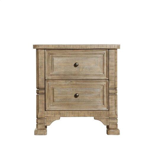 2 Drawer Nightstand-weathered Pine Finish