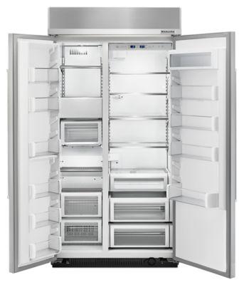 25.5 Cu. Ft 42 Inch Width Built In Side By Side Refrigerator
