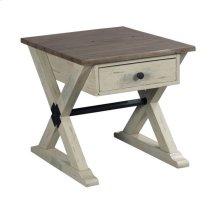 Trestle Drawer End Table