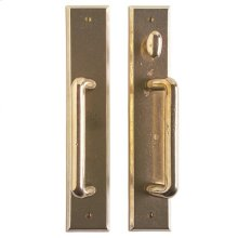 "Rectangular Patio Sliding Door Set - 2 1/2"" x 13"" Silicon Bronze Light"