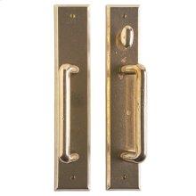 "Rectangular Patio Sliding Door Set - 2 1/2"" x 13"" White Bronze Light"