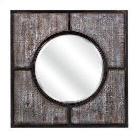 Sabina Wood and Metal Framed Mirror