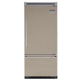 "Taupe 36"" Quiet Cool™ Bottom-Mount Refrigerator/Freezer - VIBB Tru-Flush™ (Right Hinge Door)"