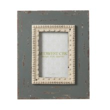 Distressed Blue Pearl 4x6 Frame.