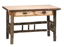 Two Drawer Writing Desk Natural Hickory, Standard Finish