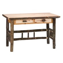 Two Drawer Writing Desk - Natural Hickory