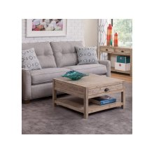 Square Coffee Table in Gray Wash