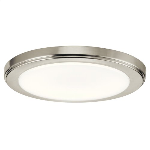 Zeo Collection Zeo 3000K LED 10 Inch round Flushmount NI
