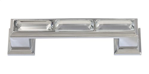 Legacy Crystal Pull 3 Inch (c-c) - Polished Chrome