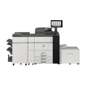 80 ppm B&W and Color networked digital MFP