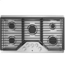 "GE 36"" Built-In Gas Deep Recessed Edge-to-Edge Stainless Steel Cooktop Product Image"
