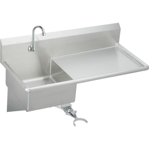 """Elkay Stainless Steel 49-1/2"""" x 24"""" x 10, Wall Hung Service Sink Kit"""