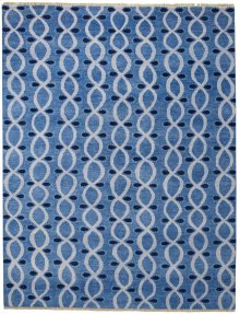 Infinity Steel Blue Hand Knotted Rugs